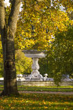 Marble Fountaine in Autumn Katherine Park Stock Images