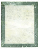 Marble frame-plate. Marble frame plate for a background Stock Photos