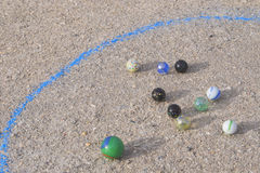 Marble Game Stock Photography