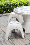Marble Garden Bench Stock Photo