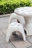 Marble Garden Bench Stock Photo