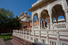 Marble gazebo in a green park in an ancient palace in India Stock Images