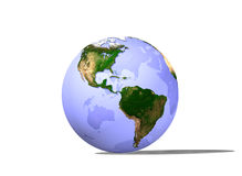 Marble Globe on White Royalty Free Stock Photography