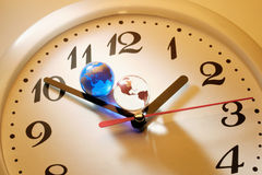 Marble Globes on Clock Stock Photo