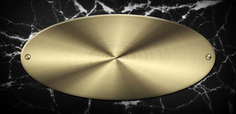 Marble Gold Plate Royalty Free Stock Image