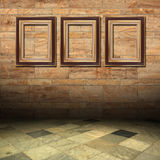 Marble and gold wooden frame Royalty Free Stock Images