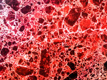 Marble granite red colorful explosion of dimension inside stone Stock Photos