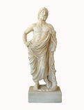 Marble greek statuette Stock Image