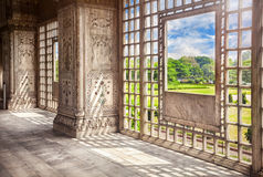 Marble hall in Red Fort Stock Photo