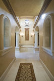 Marble Hallway Corridor In House Stock Image