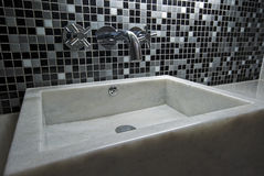 Marble hand wash basin Royalty Free Stock Image