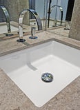Marble hand wash basin Stock Photo