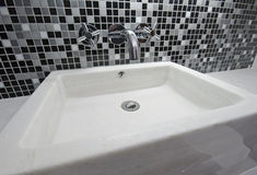 Marble hand wash basin Royalty Free Stock Photos