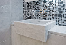 Marble hand wash basin Royalty Free Stock Images