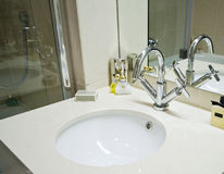 Marble hand wash basin Stock Image