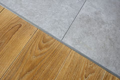 Marble and hardwood floor Stock Image