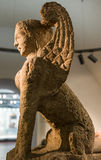Marble harpy. Harpy, Greek mythological figure, half woman and half bird  in museum Royalty Free Stock Images