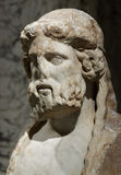 Marble Head of an Elderly Man Royalty Free Stock Photography