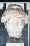 Marble head of a Greek woman, Ancient Agora, Athens, Greece Royalty Free Stock Photo