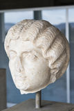 Marble head of a Greek woman, Ancient Agora, Athens, Greece Stock Image