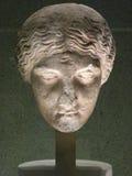 Marble head. Illuminated at museum Stock Photography