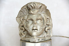 The marble-head scuplture in the baths of Diocletian (Thermae Diocletiani) in Rome. Stock Photo