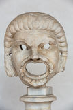 The marble-head scuplture in the baths of Diocletian (Thermae Diocletiani) in Rome. Royalty Free Stock Photo