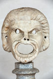 The marble-head scuplture in the baths of Diocletian Thermae Diocletiani in Rome. Stock Images