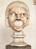 The marble-head scuplture in the baths of Diocletian Thermae Diocletiani in Rome Stock Photography