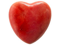 Marble heart. A red marble heart against a white background Royalty Free Stock Photo