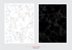 Set of cards with gentle marble textures royalty free illustration