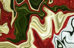 Marble ink colorful. Multi color marble pattern of the blend of curves. Abstract pattern Royalty Free Stock Photo