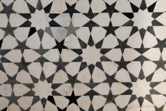 Marble inlay on facade of Akbar's Tomb. India. Beautiful marble inlay on facade of Akbar's Tomb. Islamic style architecture. Sikandra, Agra, India Royalty Free Stock Photos