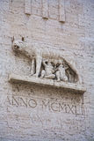 Marble inpression of the Capitoline Wolf or She Wolf statue Royalty Free Stock Photography