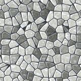 Marble irregular stony mosaic seamless pattern texture Royalty Free Stock Photography