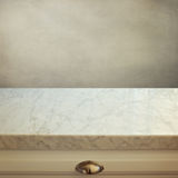 Marble kitchen counter. Over vintage background stock images
