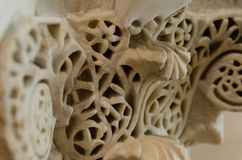 Marble lace. A very delicate and complicated artwork on ancient marbles Royalty Free Stock Photo