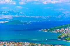 Marble landscape in Croatia, Trogir. stock photography