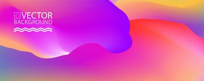 Marble landscape trendy illustration backgrounds, placard with abstract liquid wave shapes, geometric style flat and 3d design ele Stock Photography