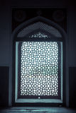 Marble Lattice Screen. The symbolically cut out mihrab facing west or Mecca, over the marble lattice screen Stock Images