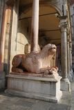 Marble lion Royalty Free Stock Photography
