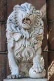 Marble lion Stock Photo