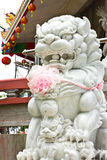 Marble lion statue. In Thailand Royalty Free Stock Image