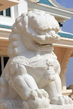 Marble lion statue. In buddhist temple Stock Image