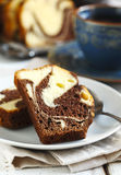 Marble loaf cake Royalty Free Stock Image
