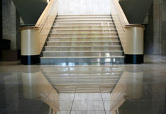 Marble lobby stairs Stock Image