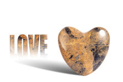 Marble Love Heart Royalty Free Stock Images