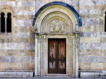 Marble medieval facade Stock Photo