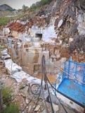 Marble mine in rainy season in Carrara, Italy Stock Photos