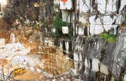 Marble mine in rainy season in Carrara, Italy Royalty Free Stock Photo